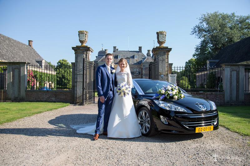 Bruiloftsfoto voor Kasteel Weldam
